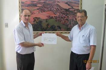 Prefeito Pedro Leandro Neto e presidente da Câmara José Xavier