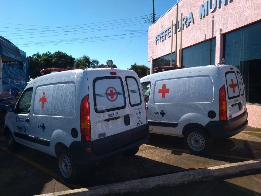 MUNICÍPIO DE GODOY MOREIRA RECEBE TRÊS NOVAS AMBULÂNCIAS PARA A SAÚDE