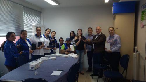 AGENTES COMUNITÁRIOS DE SAÚDE RECEBEM TABLETS DA PREFEITURA MUNICIPAL DE GODOY MOREIRA
