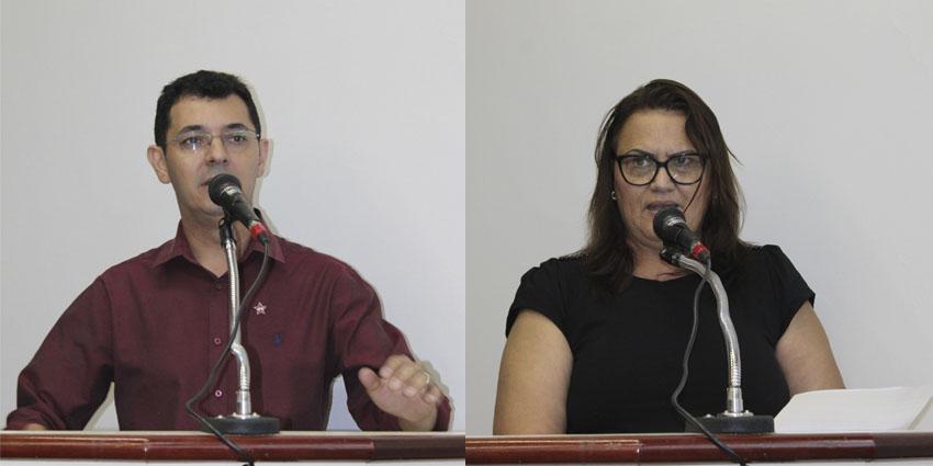 Professor Carlos e Zenaide são os propositores do projeto aprovado