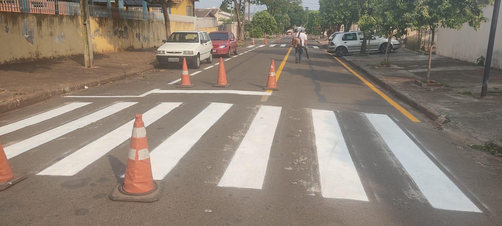 Trânsito: Secretaria atende pedido para pintura de faixas