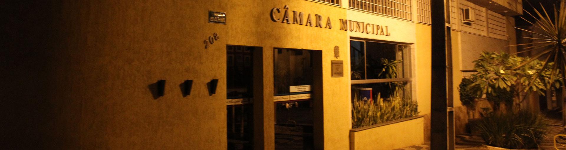 Fachada Câmara (noite)