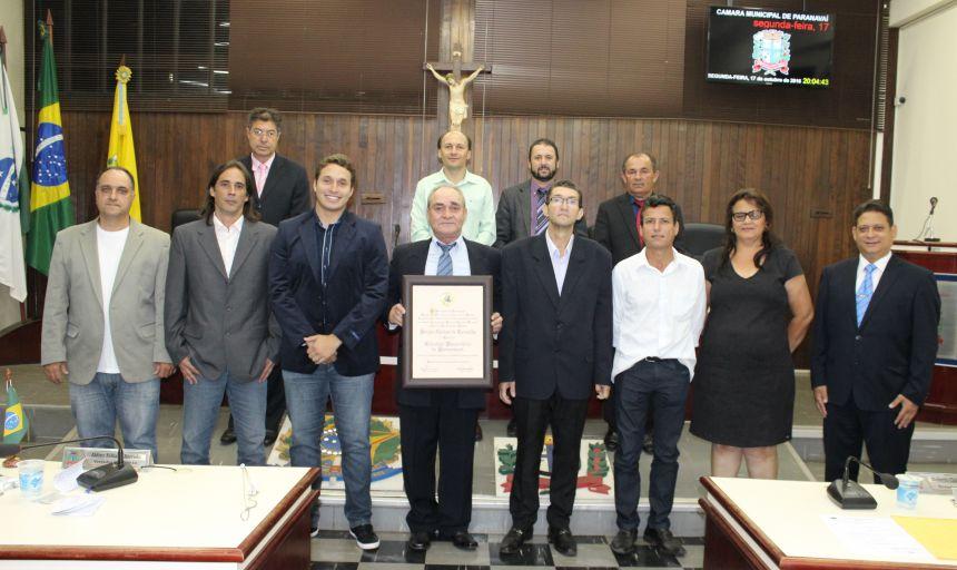 Sérgio Carlos de Carvalho recebe título honorário paranavaiense