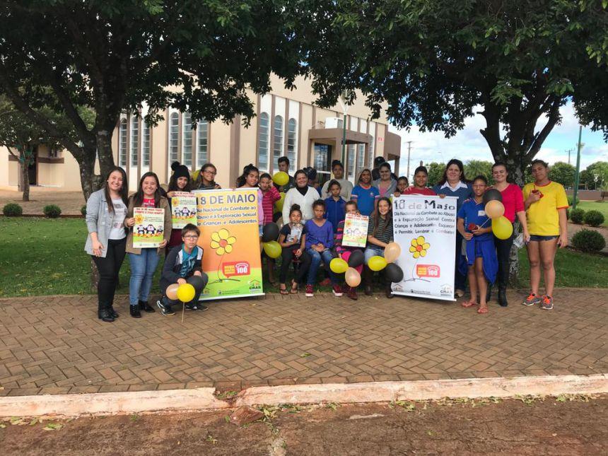 """Ações da Secretaria de Assistência Social e CRAS em alusão ao """"18 de maio"""": Dia Nacional de Combate ao Abuso e à Exploração Sexual de Crianças e Adolescentes"""