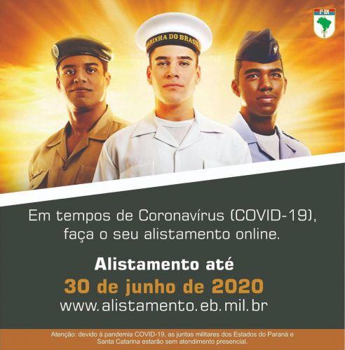 ALISTAMENTO MILITAR 2020 - ONLINE