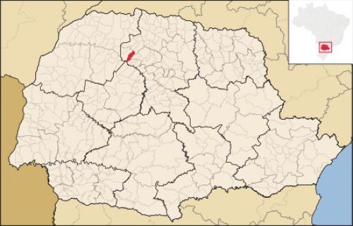 Localização de Ourizona no Paraná