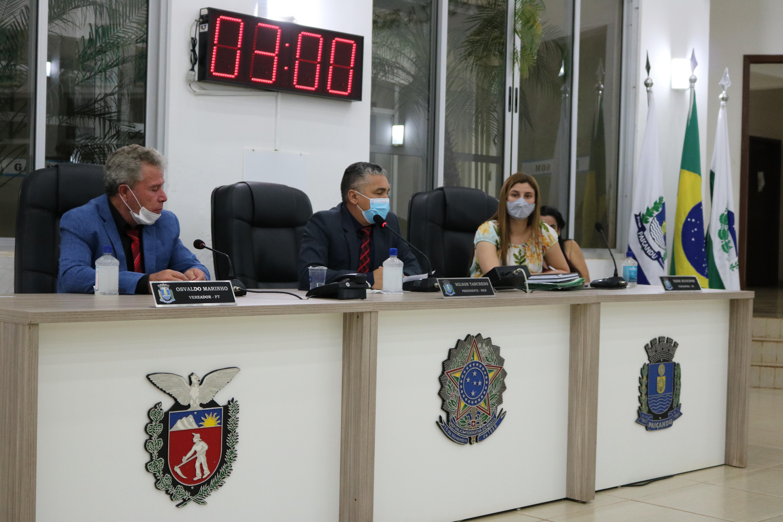 Nesta terça (21), os Vereadores e Vereadora se reuniram em Sessão Ordinária.