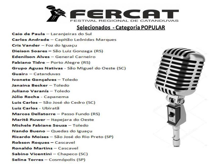RELAÇÃO CLASSIFICADOS -FERCAT