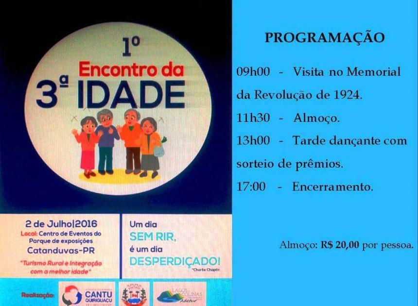 PRIMEIRO ENCONTRO DA TERCEIRA IDADE