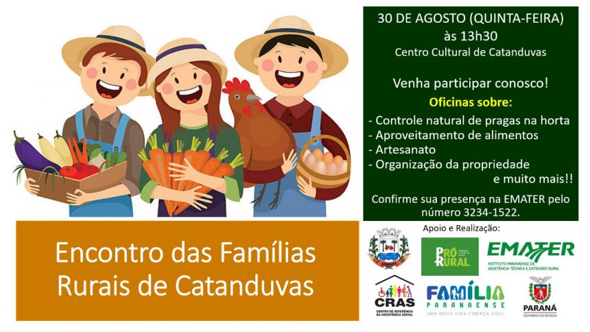 CONVITE: Encontro das Famílias Rurais de Catanduvas