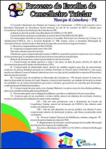 PROCESSO DE ESCOLHA DE CONSELHEIRO TUTELAR (Catanduvas-PR)