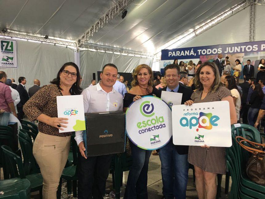 """Programa """"Escola Conectada"""" e """"Reforma APAE"""" beneficiam escolas de Pérola"""