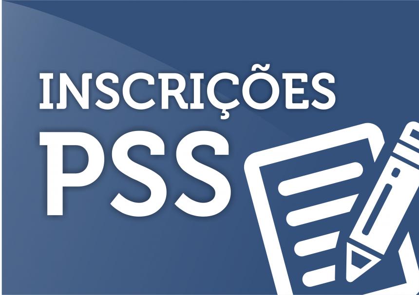 PSS - INSCRIÇÕES ABERTAS 16-11-2016