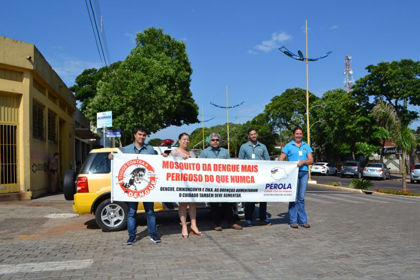 Pérola reforça campanha para combater a dengue.