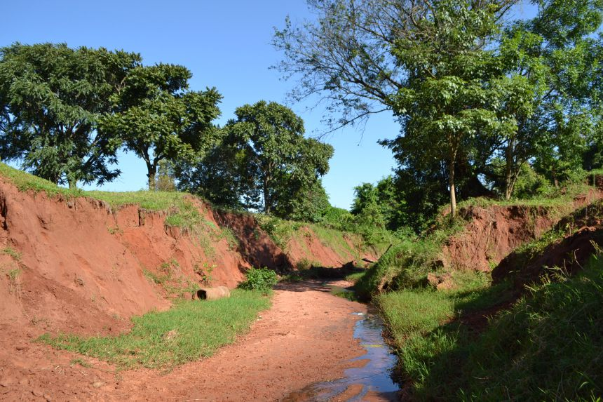 Obras de combate a erosão são iniciadas no Parque do Bosque em Pérola