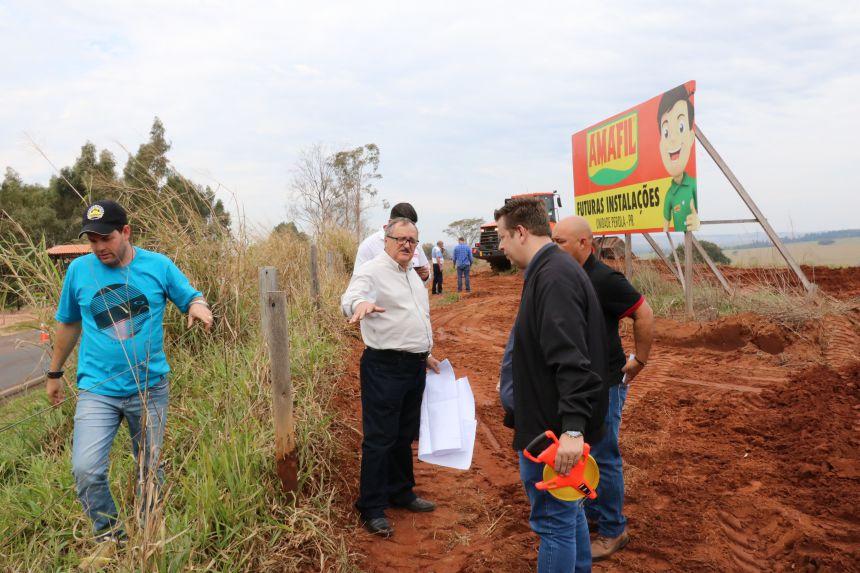 REALIDADE! Amafil inicia obras de construção de sua Unidade em Pérola