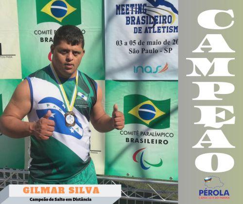 Gilmar Silva é Campeão no Meenting Brasileiro de Atletismo