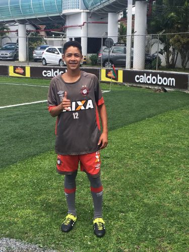 Mais um atleta de Pérola é selecionado pelo Atlético Paranaense.