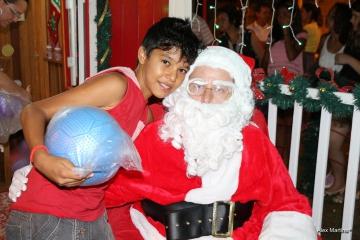 Chegada do Papai Noel em Pérola