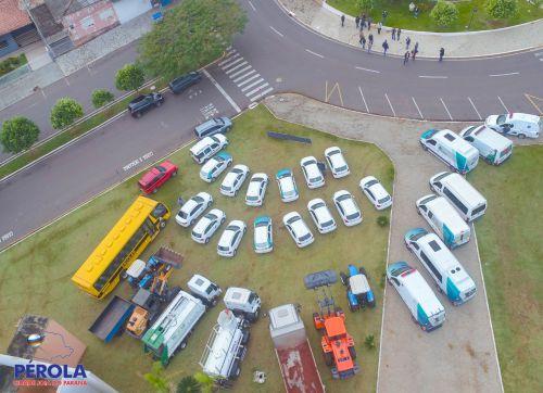 Darlan Scalco apresenta veículos que vão renovar a Frota Municipal.