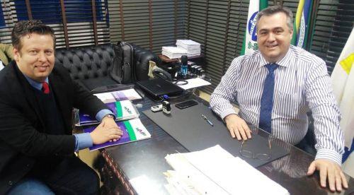 Darlan Scalco visita Beto Preto para pedir recursos para saúde nos municípios