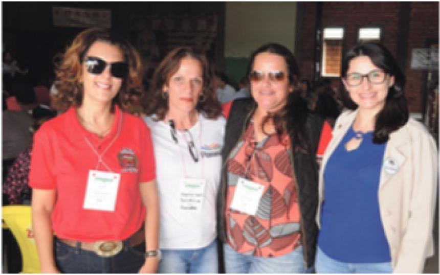 Anete Frederico, Sandra Camacho, Mariana Valéria Leonardi e Flávia Galbero Costa