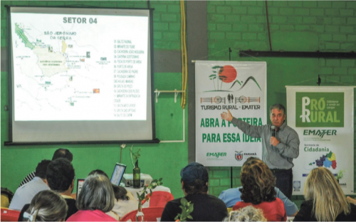 Marcelo Mello Costa, Secretario Municipal de Meio Ambiente e Turismo de Sao Jeronimo da Serra, em apresentacao no 2o Seminario Regional de Turismo Rural