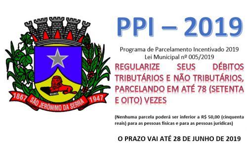 PROGRAMA DE PARCELAMENTO INCENTIVADO 2019