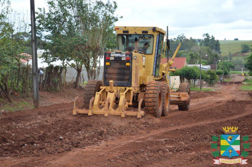 Obras de asfalto começam a ser realizadas em Janiópolis