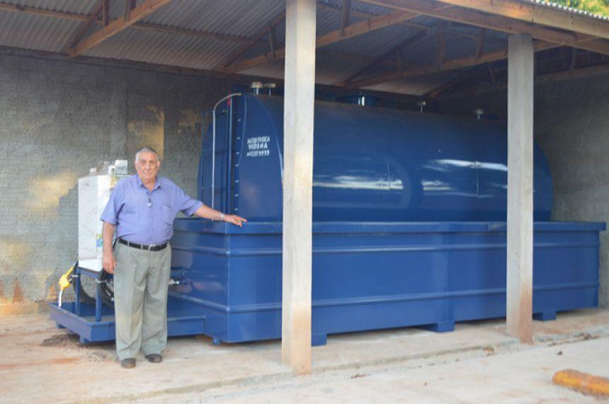 Tanque Ecológico de Combustível é instalado no Pátio de Obras de Janiópolis
