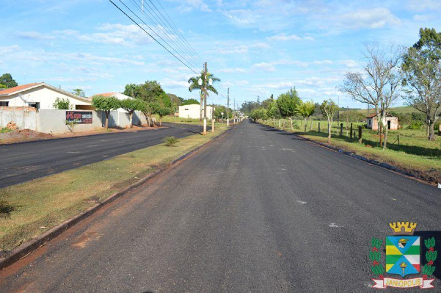 Prefeitura começa recape asfáltico na Avenida Goioerê