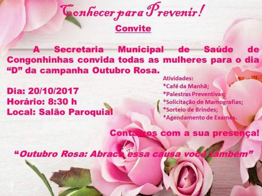 CONVITE OUTUBRO ROSA