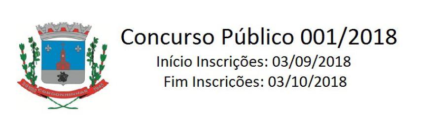 CONCURSO PÚBLICO N.º 001/2018