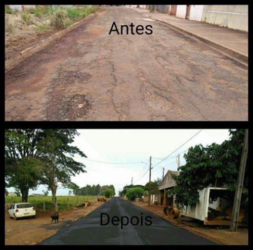 Prefeitura de Congonhinhas realiza recuperação de ruas e avenidas