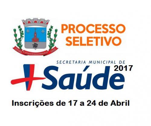 Inscrições para o Processo Seletivo Simplificado que vai contratar profissionais para Secretária Municipal de Saúde