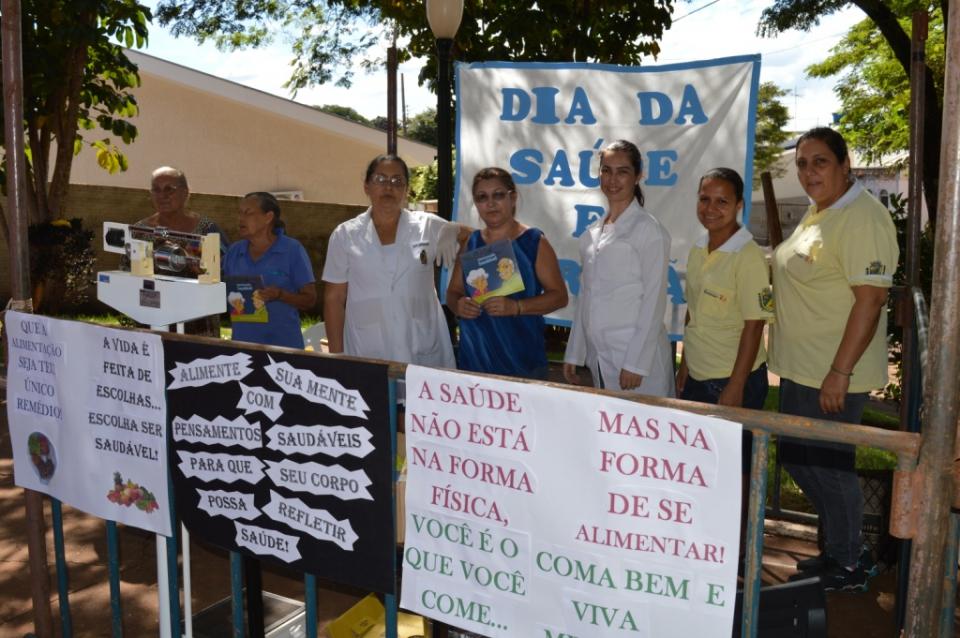 Secretaria de Saúde promove Dia da Nutrição em Quinta do Sol.