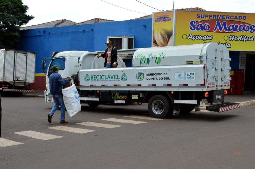 Quinta do Sol efetiva sistema de coleta seletiva do lixo reciclável