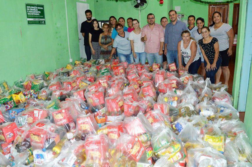 Prefeitura de Quinta do Sol entrega cestas dos alimentos arrecadados na festa dos 53 anos do município