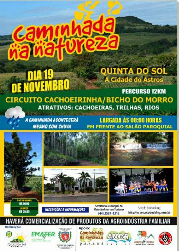 """Quinta do Sol realiza """"1ª Caminhada na Natureza"""" no próximo dia 19"""