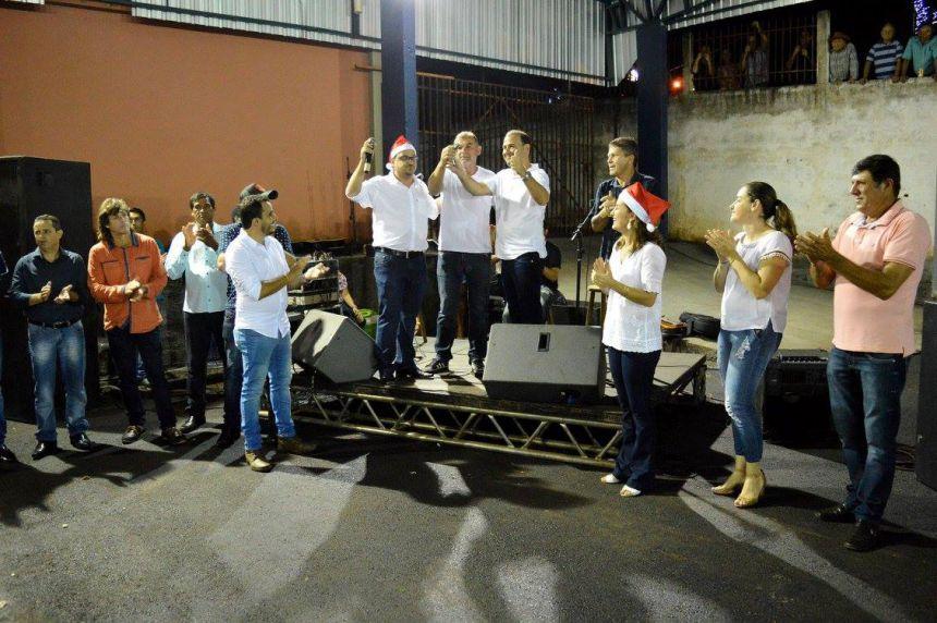 João Claudio e Leandro inauguram Centro de Eventos de Quinta do Sol