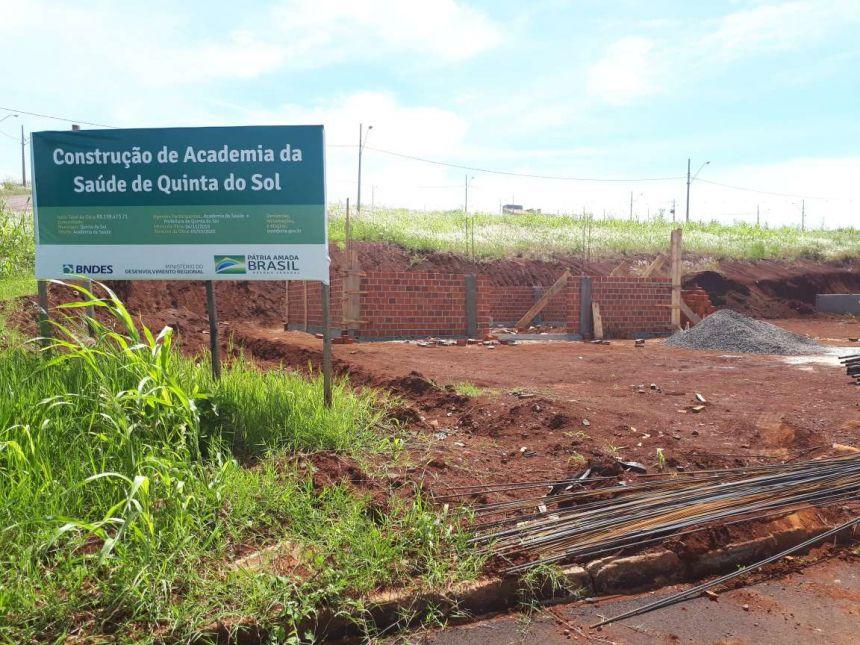 Quinta do Sol inicia construção de Academia da Saúde