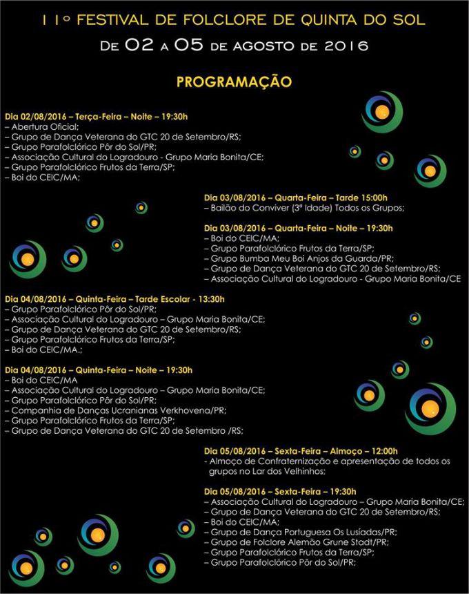 FEFOSOL 2016 receberá grupos do PR, RS, SP, MA e CE