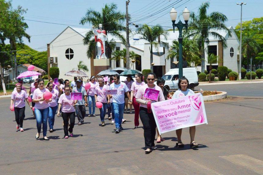 Secretaria de Saúde de Quinta do Sol promove ações do Outubro Rosa
