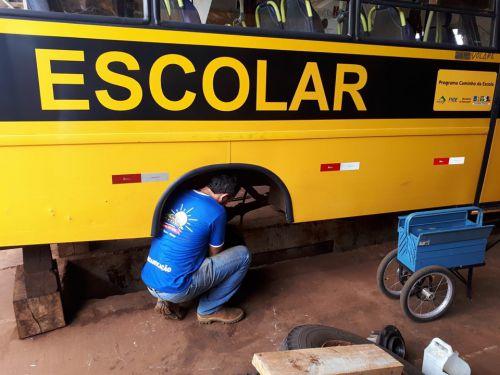 Prefeitura de Quinta do Sol realiza manutenção da frota escolar