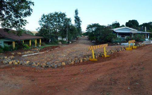 Prefeitura de Quinta do Sol finaliza trecho de obras próximo à Sanepar
