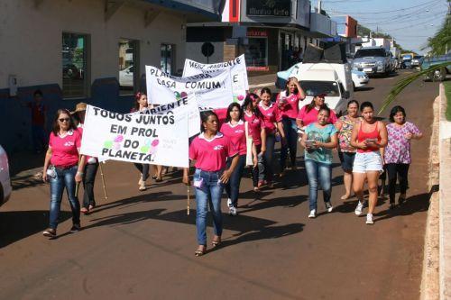 Grupo Mulher Atual de Quinta do Sol promove ações de incentivo à reciclagem