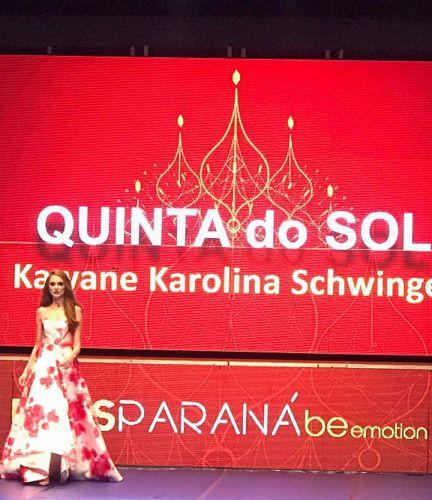 Representante de Quinta do Sol é eleita Miss Simpatia no Miss Paraná 2018