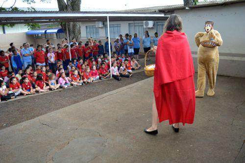 Palestra sobre Alimentação Saudável em escola de Quinta do Sol
