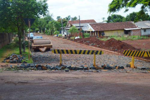 Mais uma etapa de pavimentação de ruas concluída em Quinta do Sol