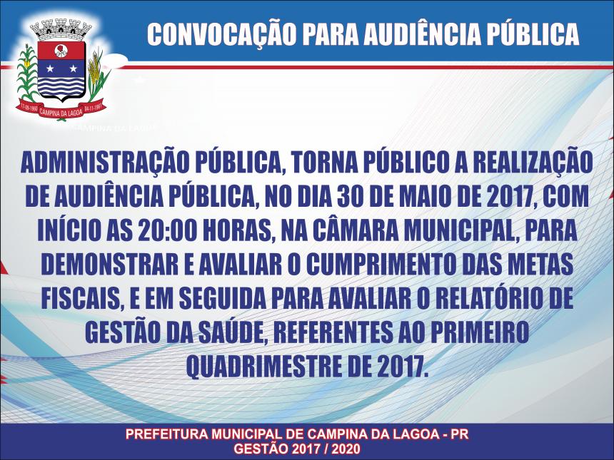 Convocação para Audiência Pública